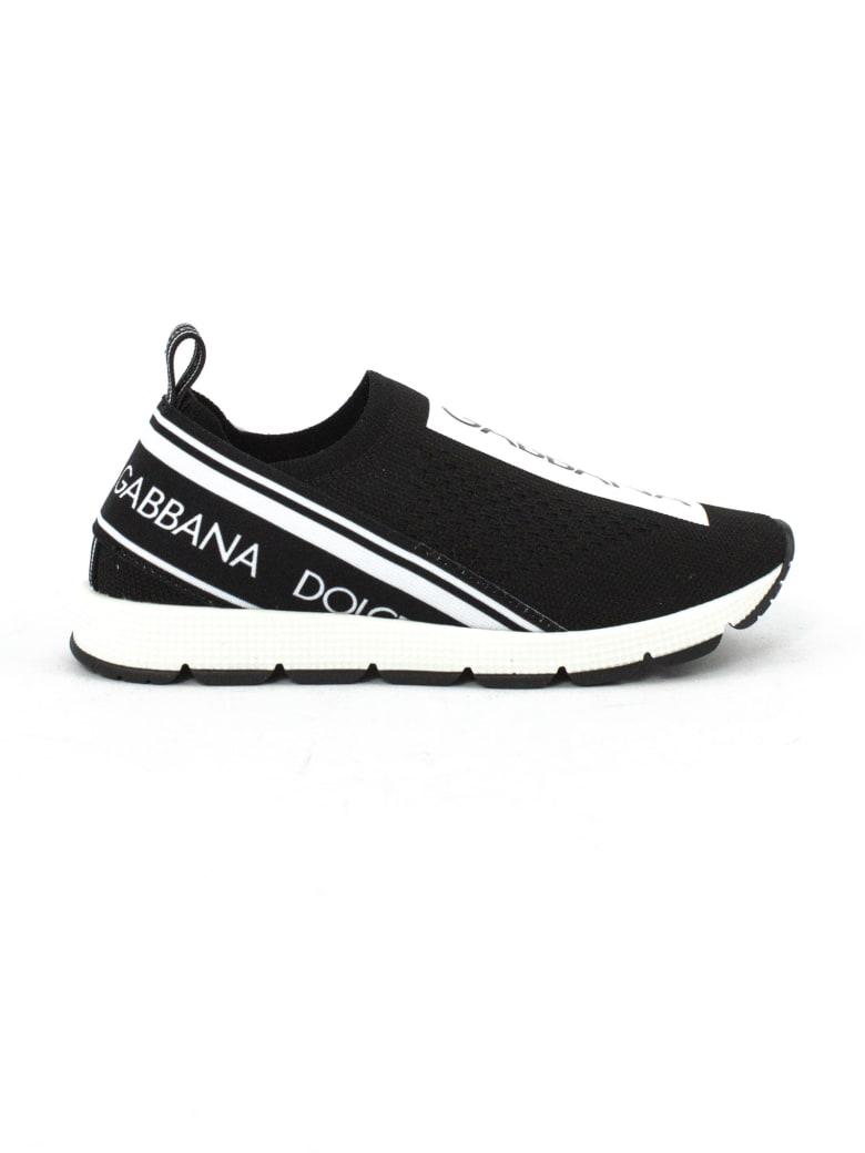 Dolce & Gabbana Majolica-print Sorrento Sneaker - Nero+bianco