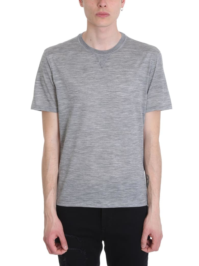 Ermenegildo Zegna Grey Cotton T-shirt - grey