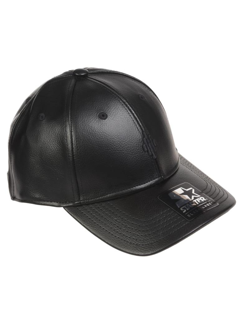 Marcelo Burlon Cross Nappa Baseball Cap - Black