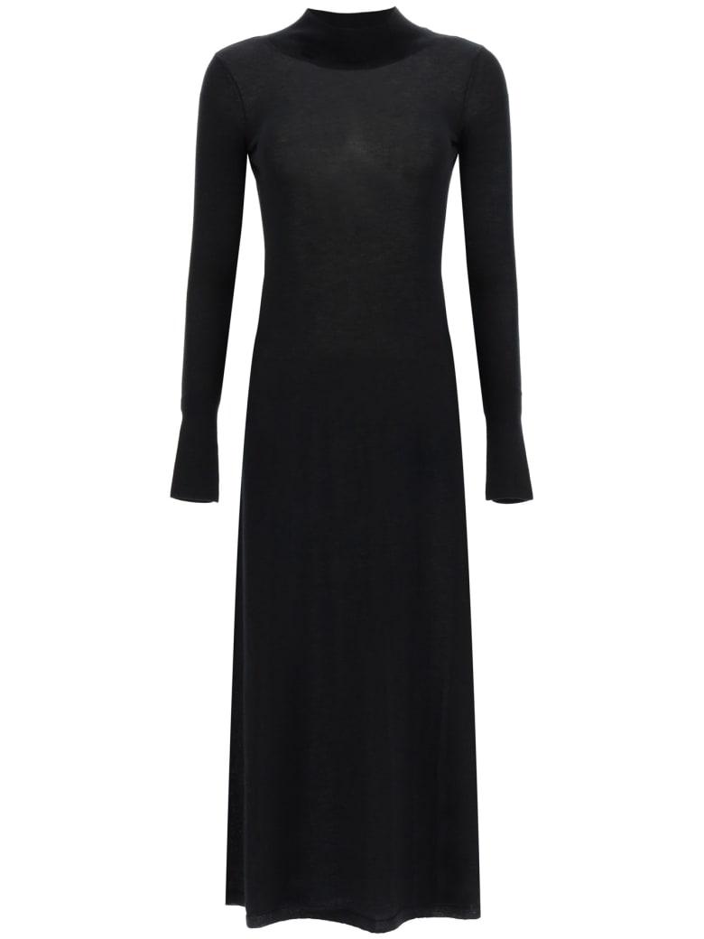 Le Kasha Knit Dress With Cut-out - BLACK (Black)