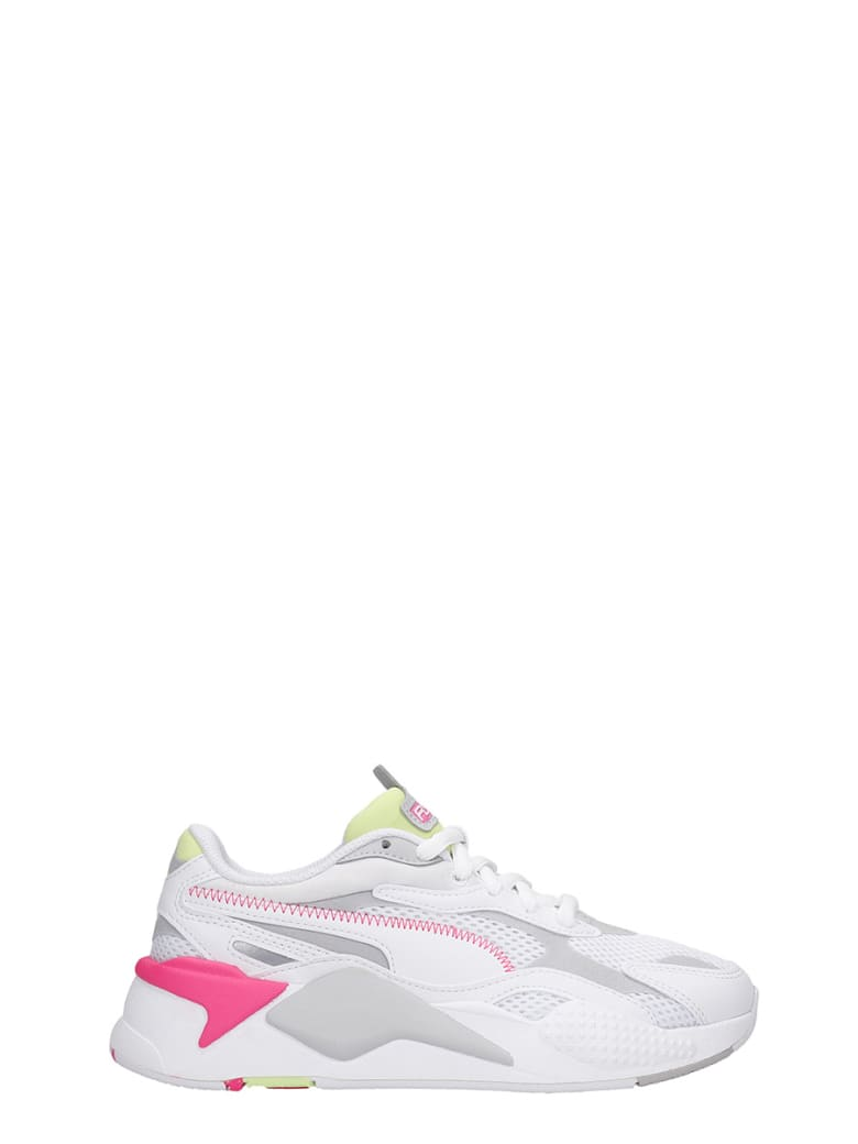 Puma Rs-x Sneakers In White Leather And Fabric - Bianco