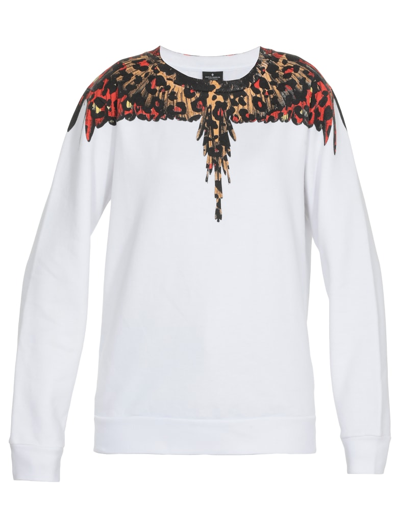 Marcelo Burlon Leopard Wings Sweatshirt - WHITE MULTICOLOR