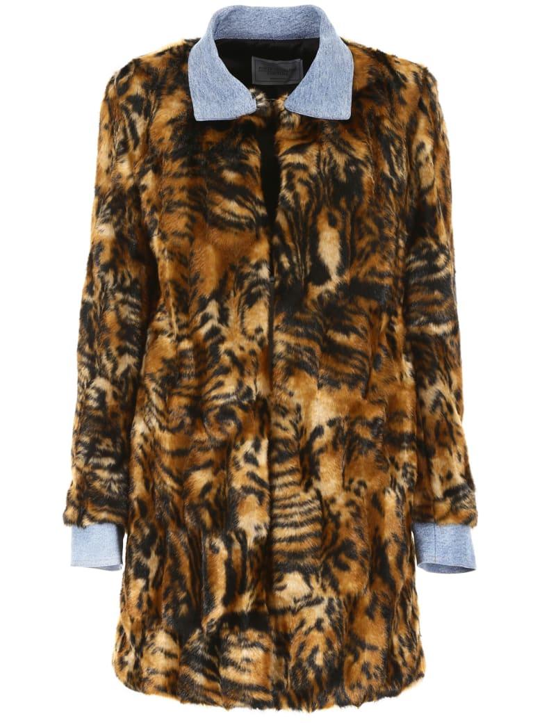Forte Couture Zita Coat - MULTI DENIM (Brown)