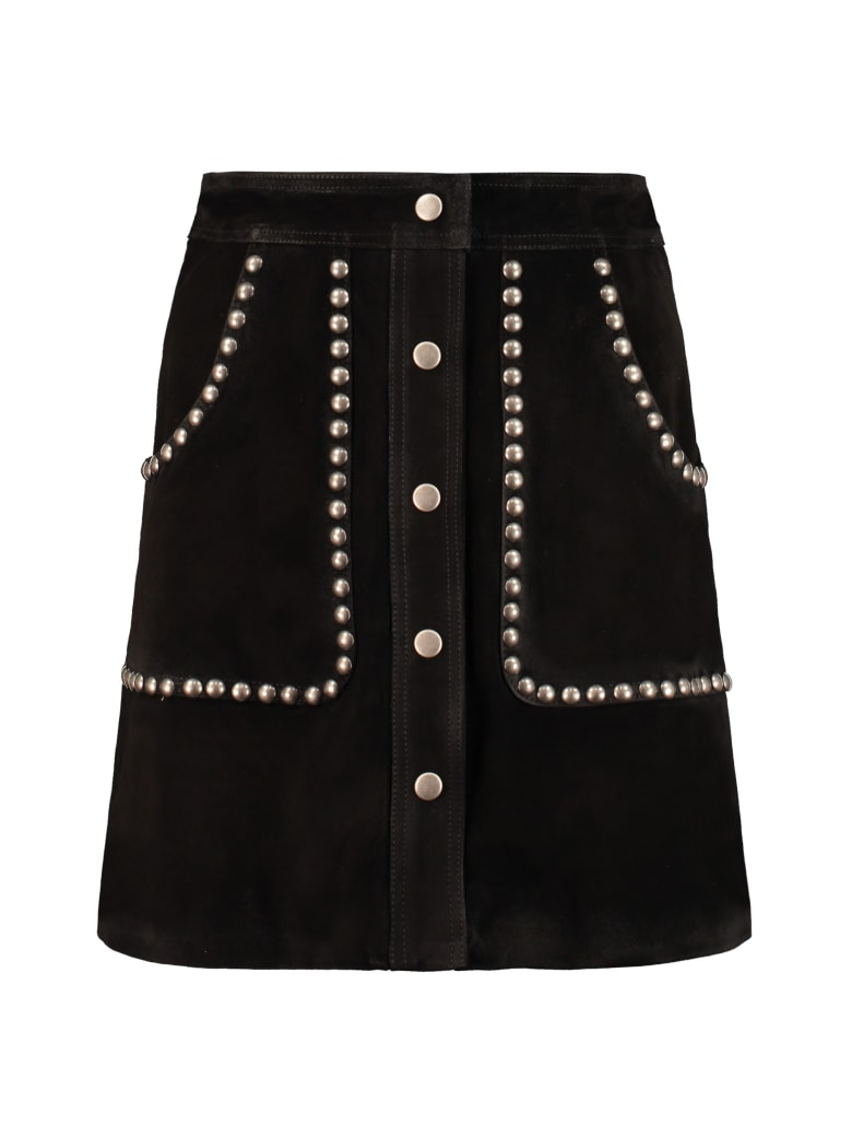 Golden Goose Artemide Suede Mini-skirt - black