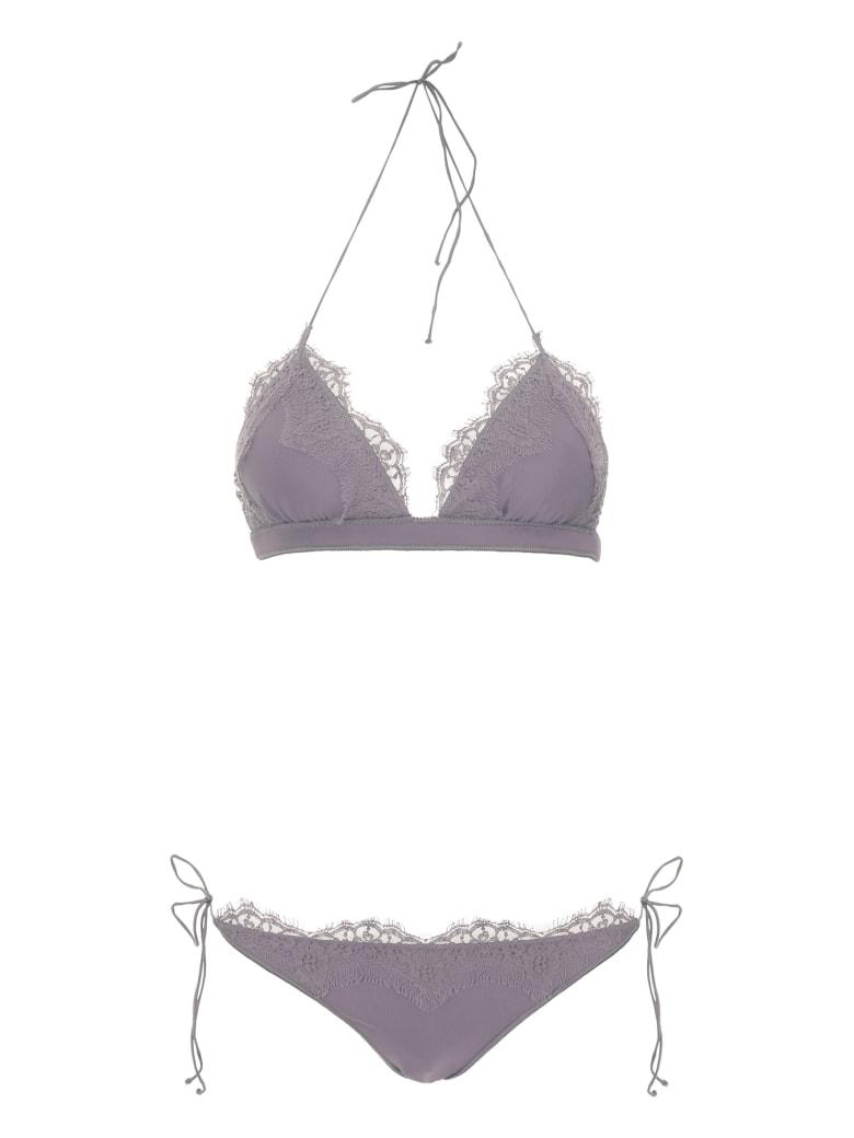 Oseree Lace Bikini - GREY (Grey)