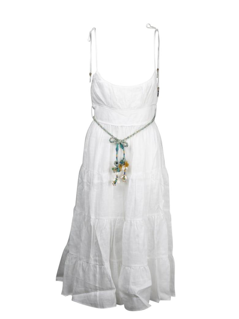 Zimmermann Edie Tiered Sun Dress - White