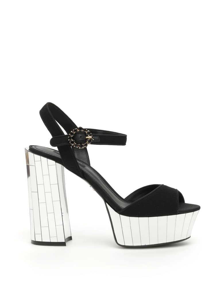 Dolce & Gabbana Keira Mirror Sandals - NERO (Black)