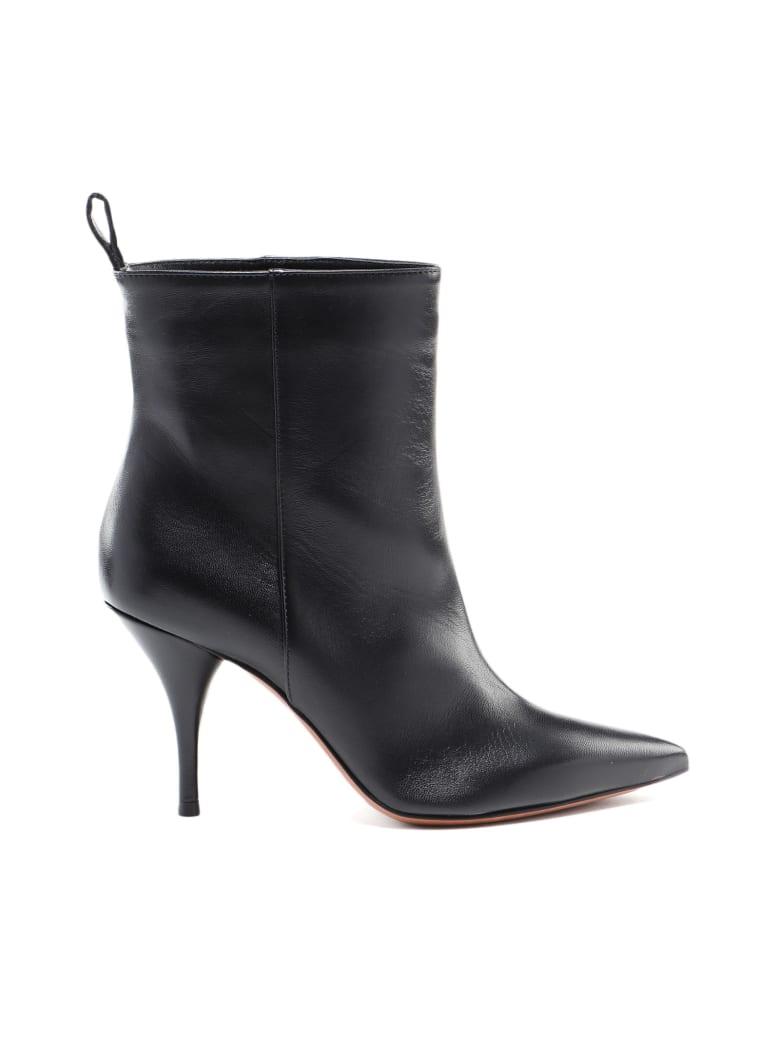 L'Autre Chose No Zip Ankle Boot - Black