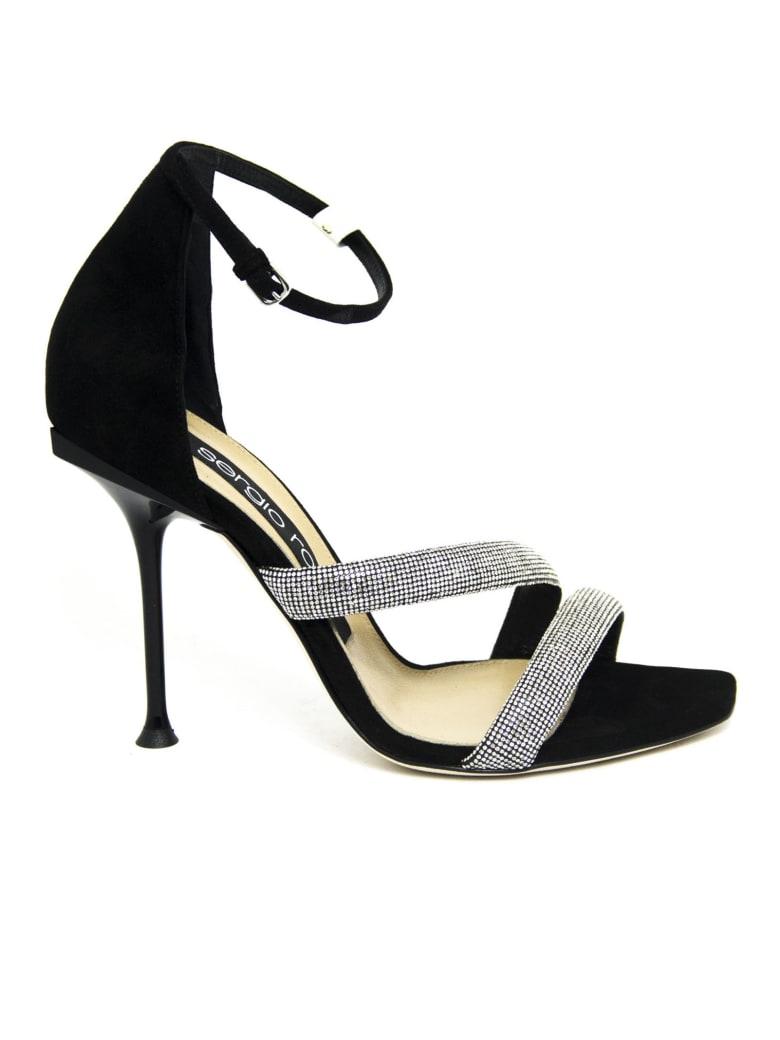 Sergio Rossi Black Leather Sandals - Nero