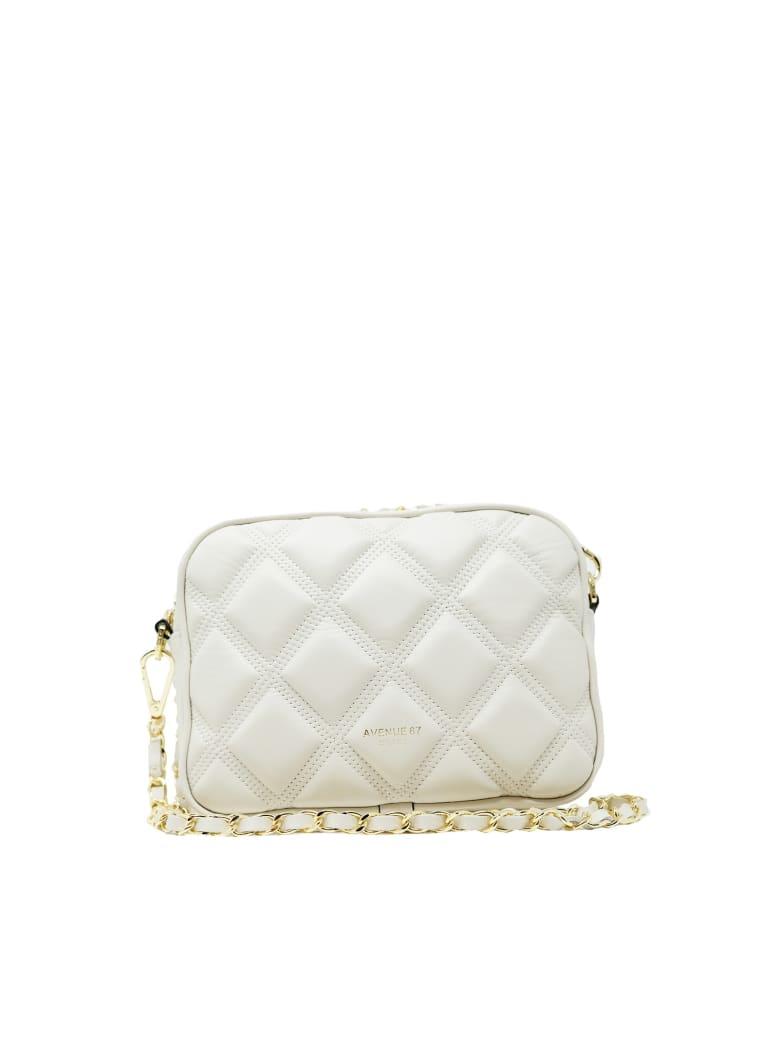 Avenue 67 Leather Cloe Summer Bag - CREAM