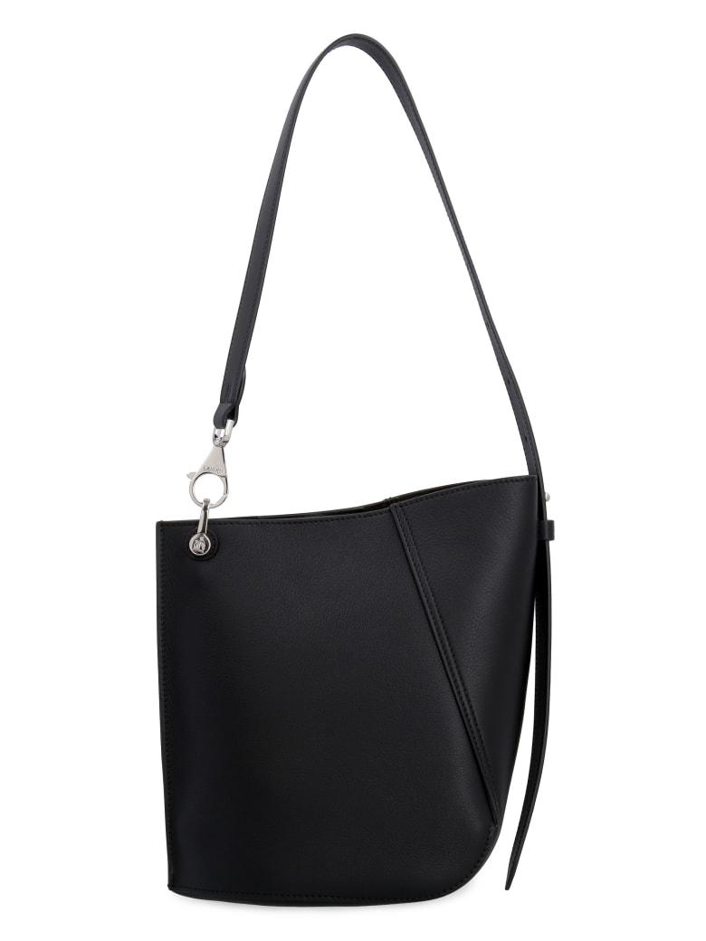 Lanvin Hook Leather Bucket Bag - black