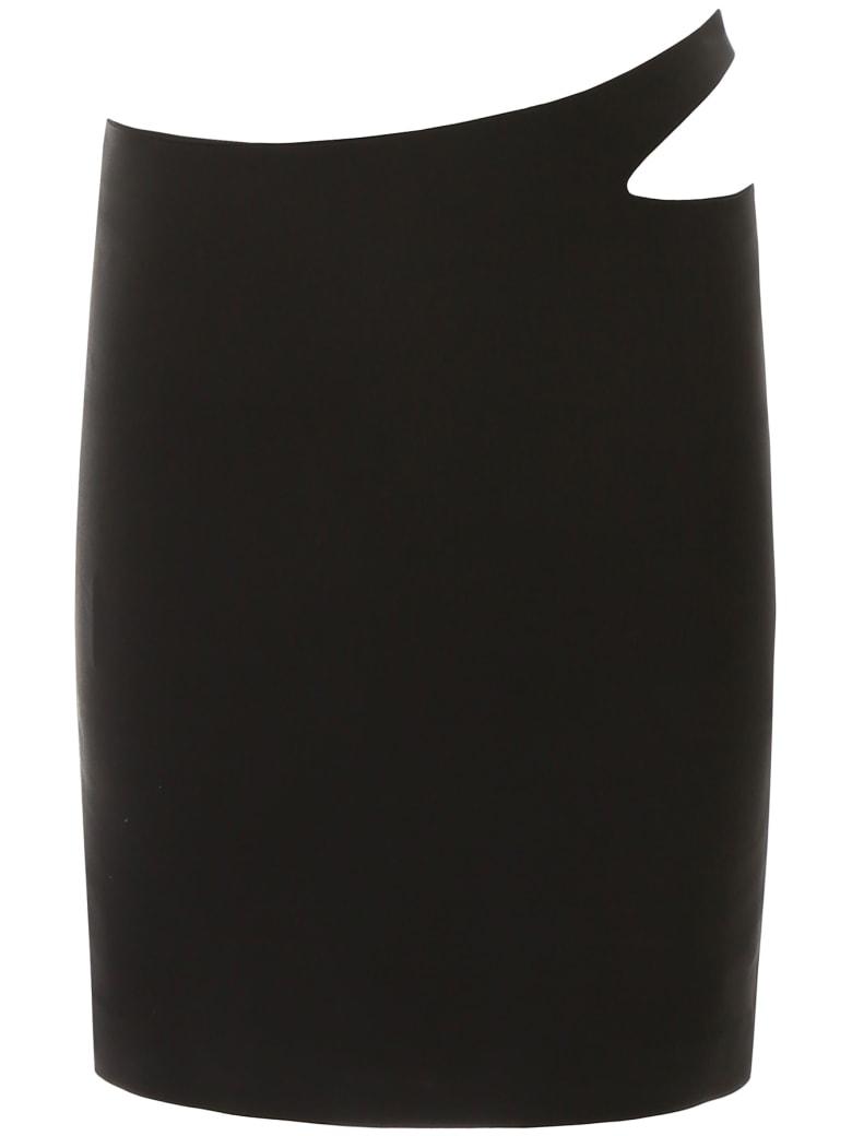 Coperni Cut-out Mini Skirt - BLACK (Black)