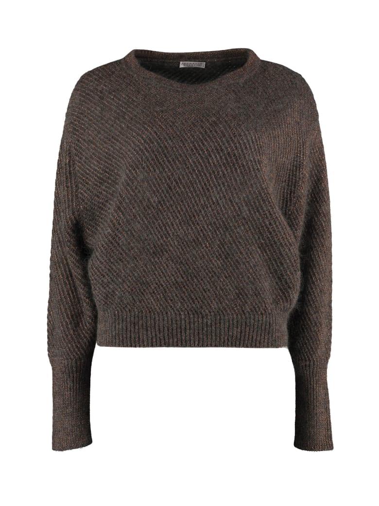 Brunello Cucinelli Open-work Sweater - grey
