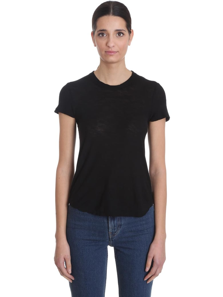 James Perse T-shirt In Black Cotton - black