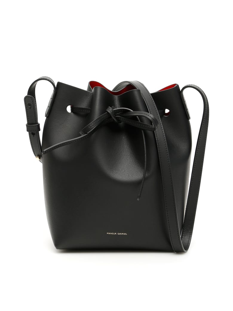 Mansur Gavriel Mini Bucket Bag - BLACK FLAMMA (Black)