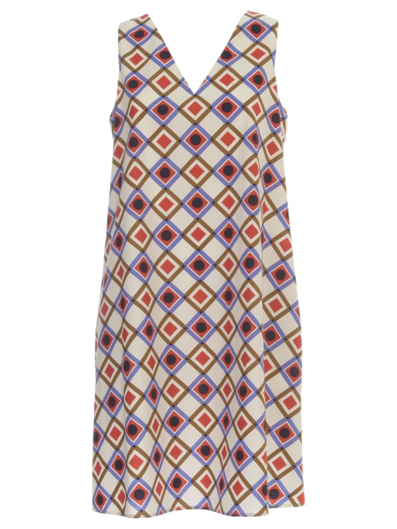 Aspesi Flared Dress W/s Fantasy - Senape Naturale