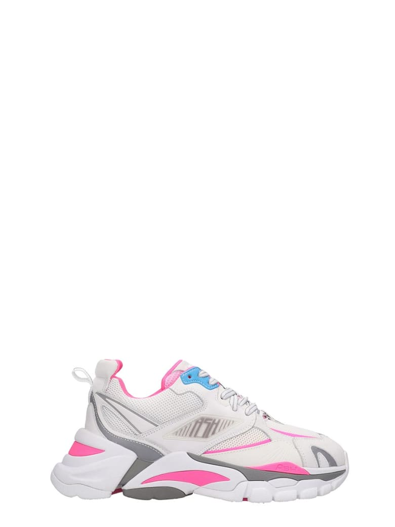Ash Flex 02 Sneakers In White Tech/synthetic - white