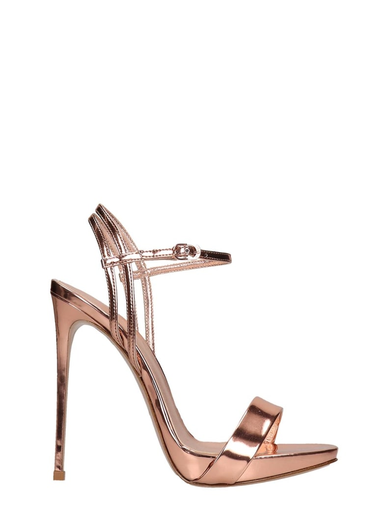 Le Silla Sandals In Rose-pink Leather - rose-pink
