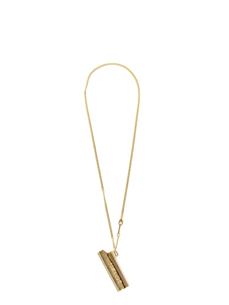 AMBUSH Accessory Logo Lighter Case Necklace - Oro