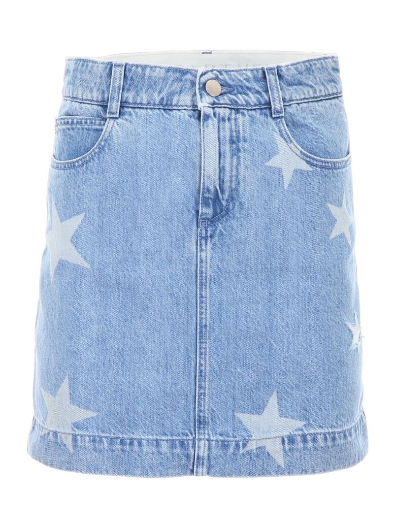 Stella McCartney Denim Skirt With Stars - LIGHT BLUE (Blue)