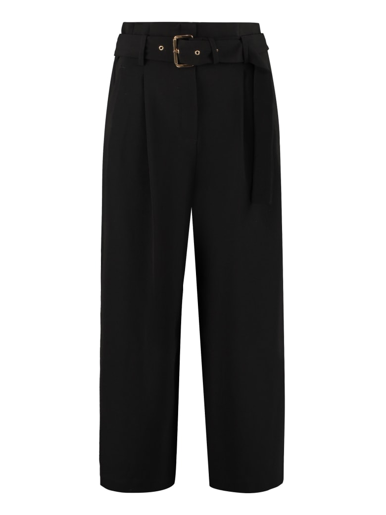 Michael Kors Culotte Pants In Stretching Cady - Nero