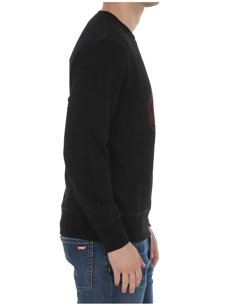 Alexander McQueen Embroidered Logo Skeleton Sweatshirt - Black/mix