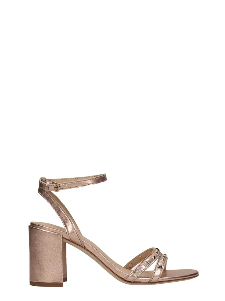 Ash Janis 03 Sandals In Copper Leather - copper