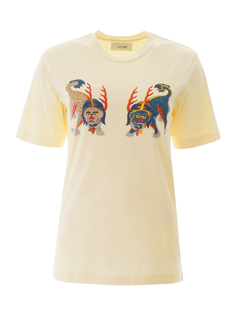 Kirin Haetae Print T-shirt - EGRET MULTI (Yellow)