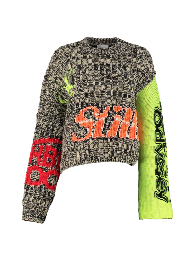 Calvin Klein Jeans Intarsia Wool Sweater - Multicolor