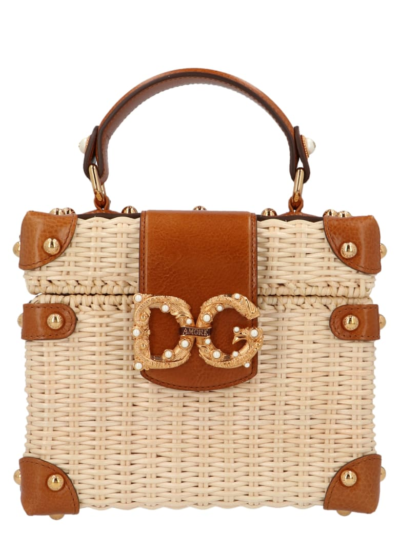 Dolce & Gabbana 'dg Amore' Bag - Beige