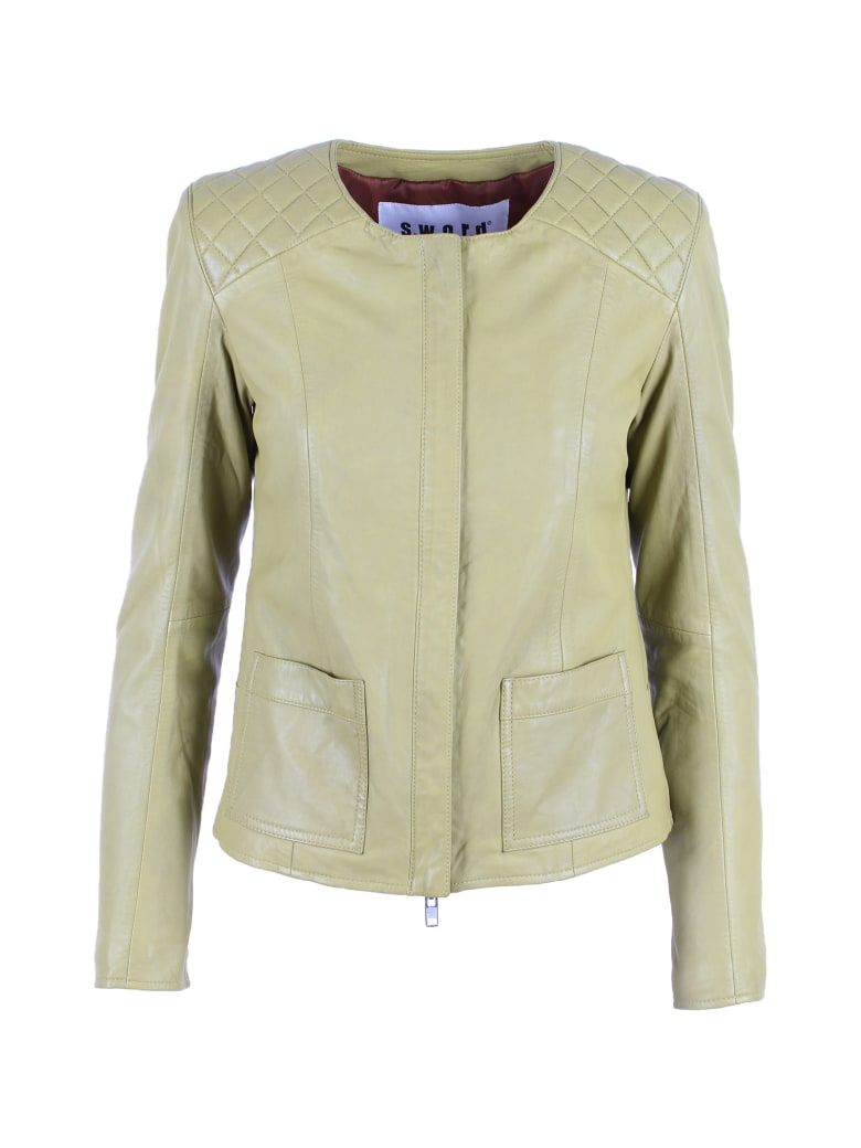 S.W.O.R.D 6.6.44 S.w.o.r.d. 6644 Leather Jacket - Lime
