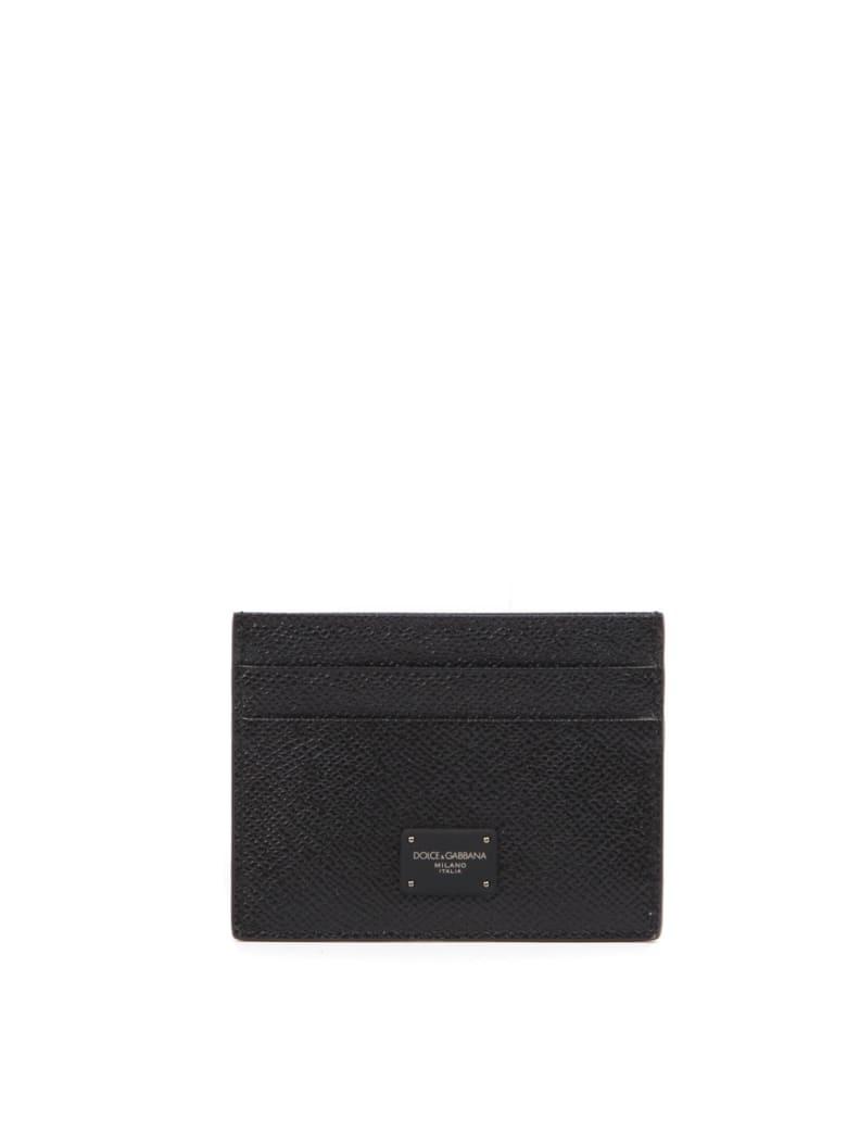 Dolce & Gabbana Black Leather Card Holder - Black