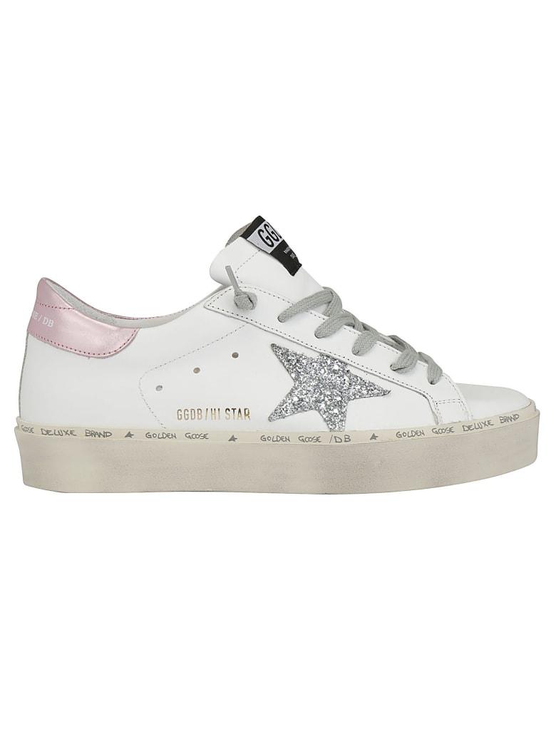Golden Goose Hi Star Sneaker - White/pink/silver