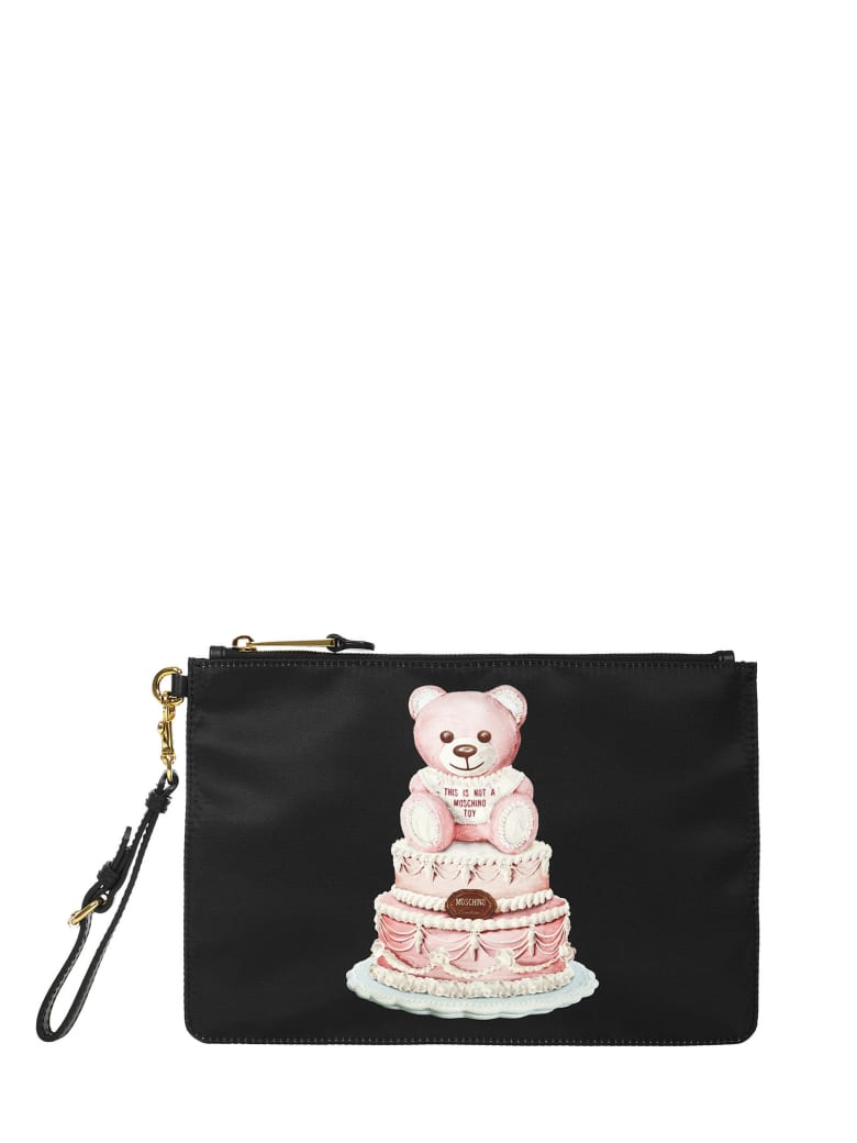 Moschino Teddy Bear Cake Clutch - Black
