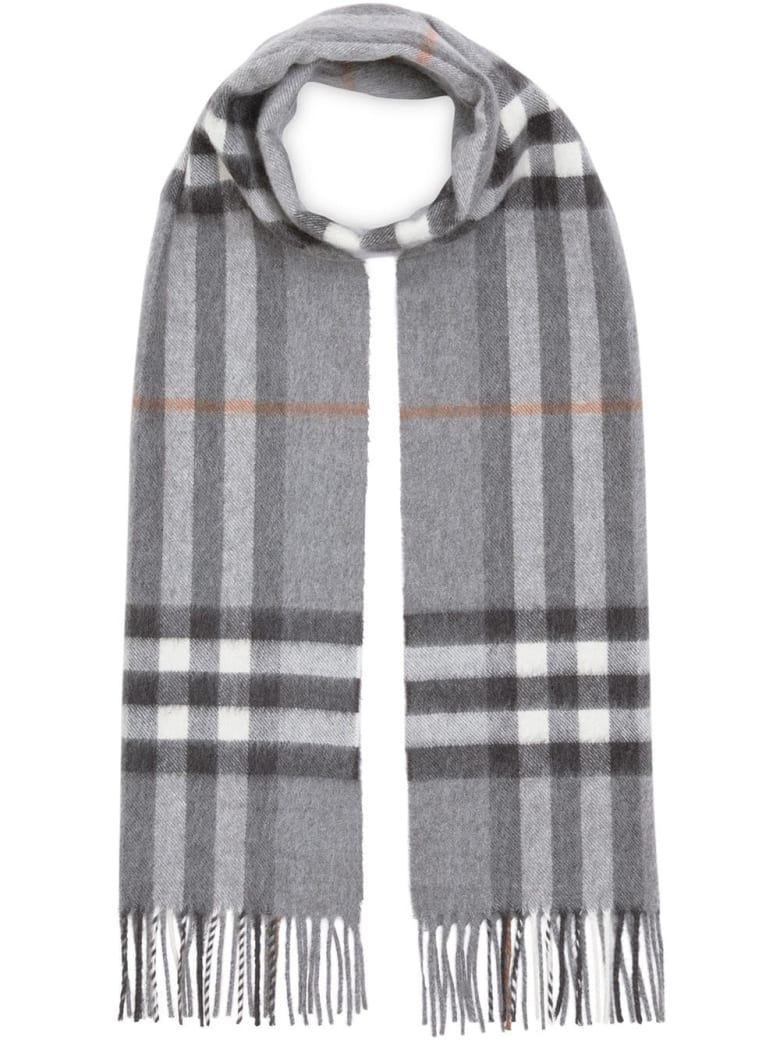 Burberry Giant Check Scarf - Grey