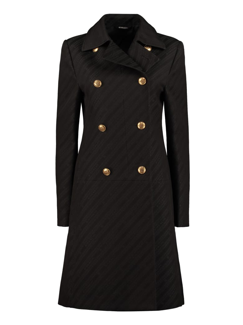 Givenchy Double-breasted Coat - black