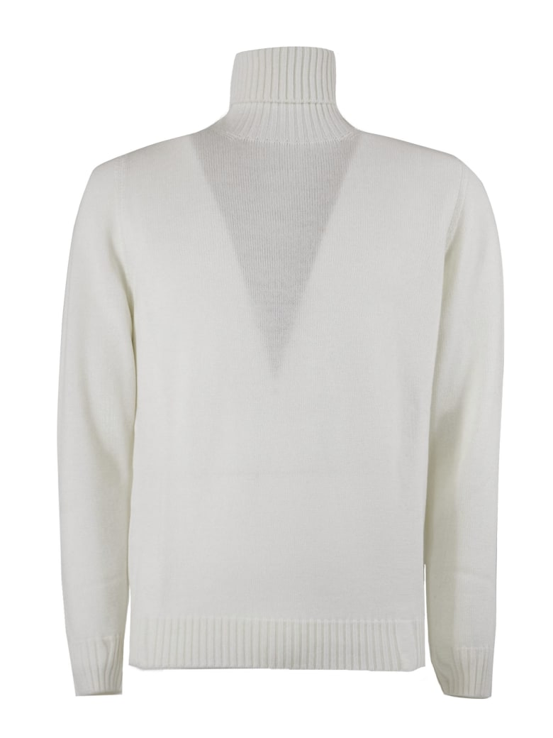 Drumohr White Merino Wool Sweater - LATTE