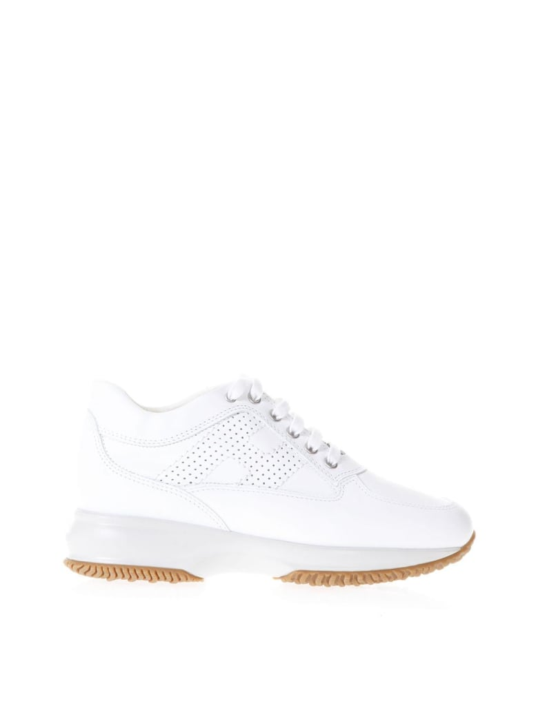 Best price on the market at italist | Hogan Hogan Interactive White Suede & Leather Sneakers