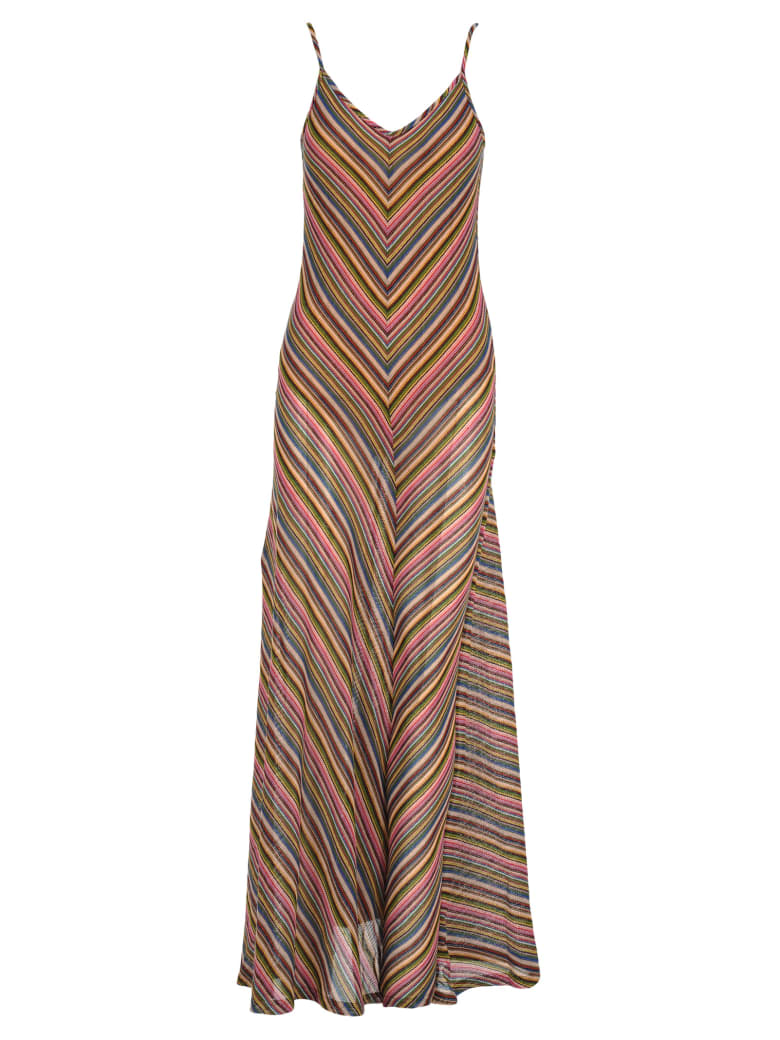 Y/Project Y/project Gathered Leg Striped Dress - MULTICOLOR