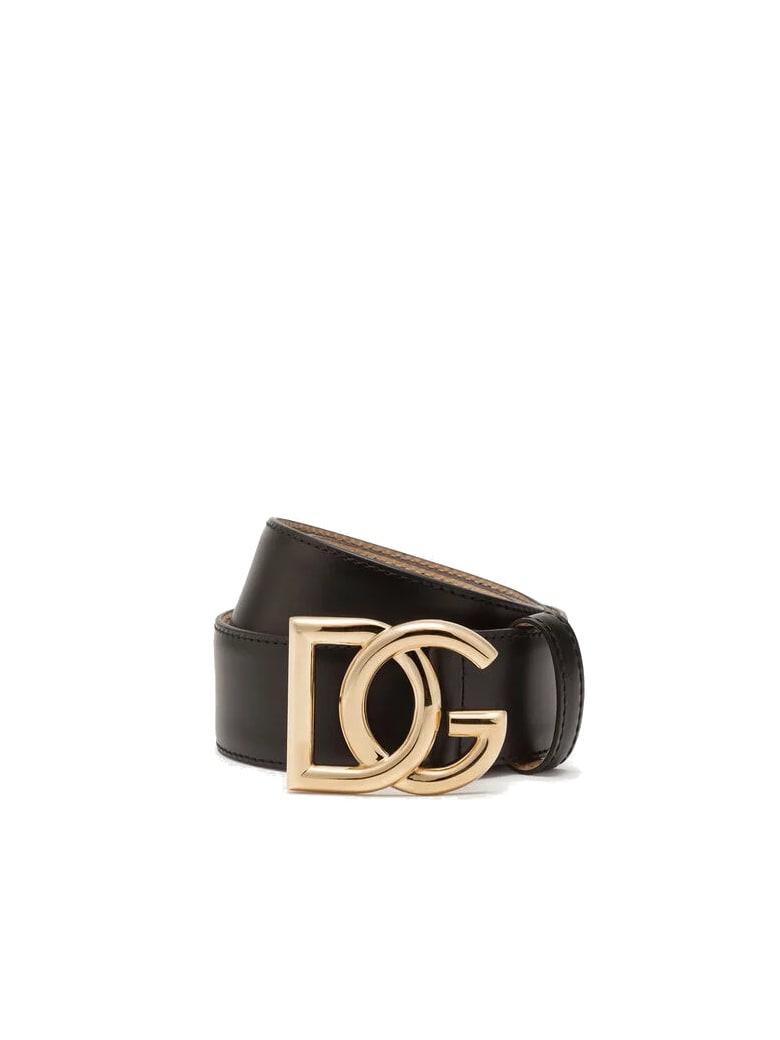 Dolce & Gabbana Millenials Logo Belt - Black