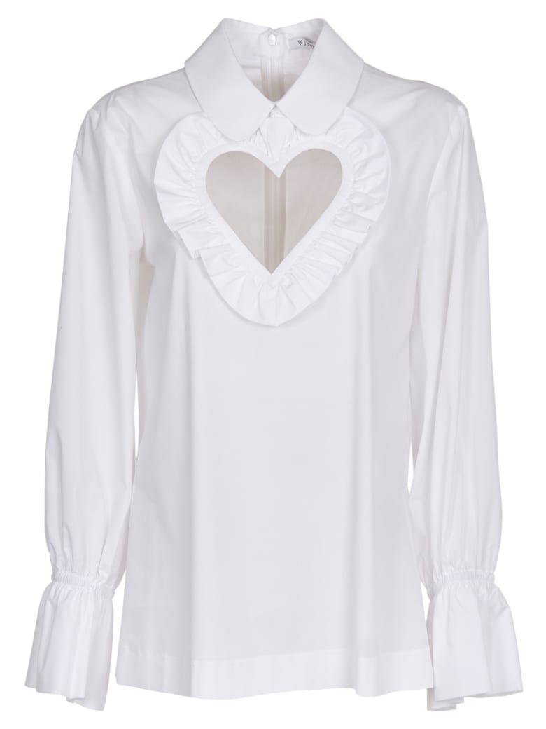 Vivetta White Heart Cut Out Shirt - white