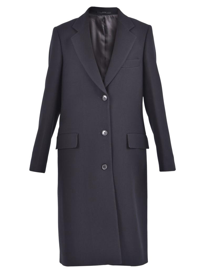 Paul Smith Single-breasted Coat - Black