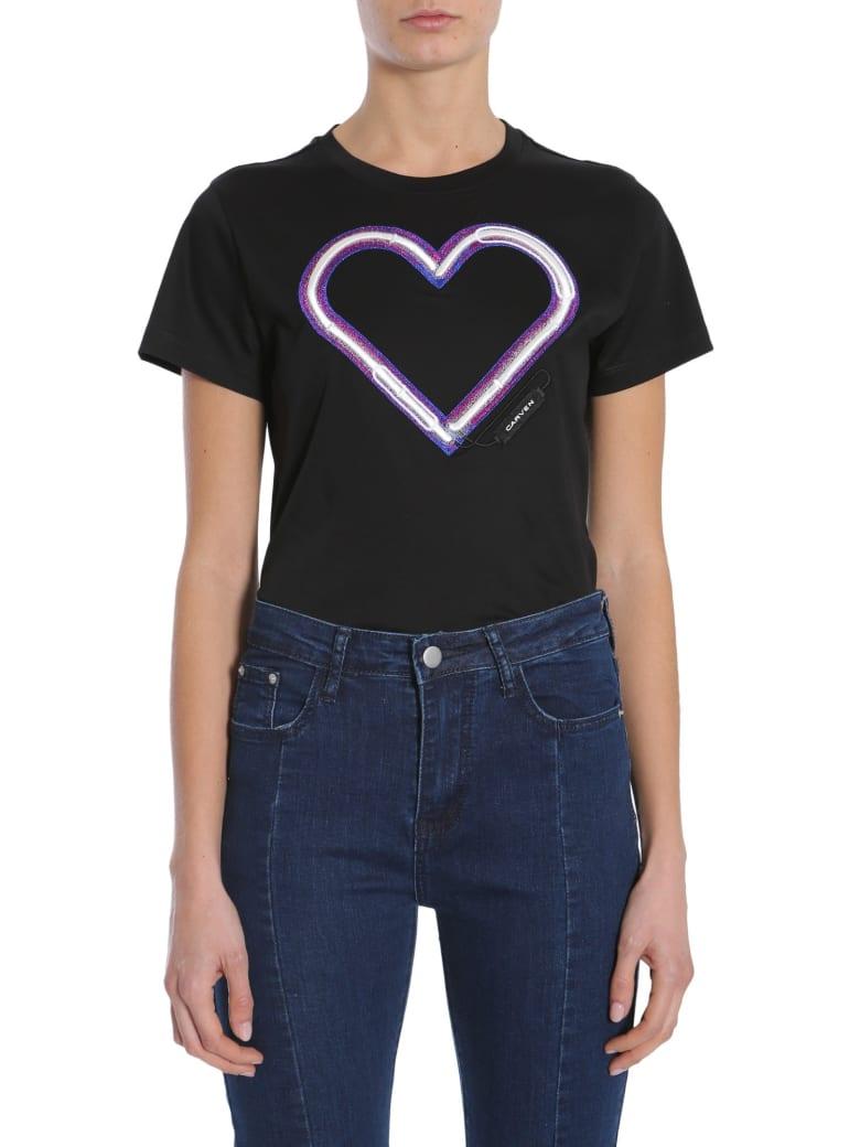 Carven Round Collar T-shirt - NERO
