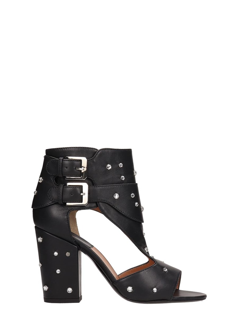 Laurence Dacade Black Leather Rush Sandals - black