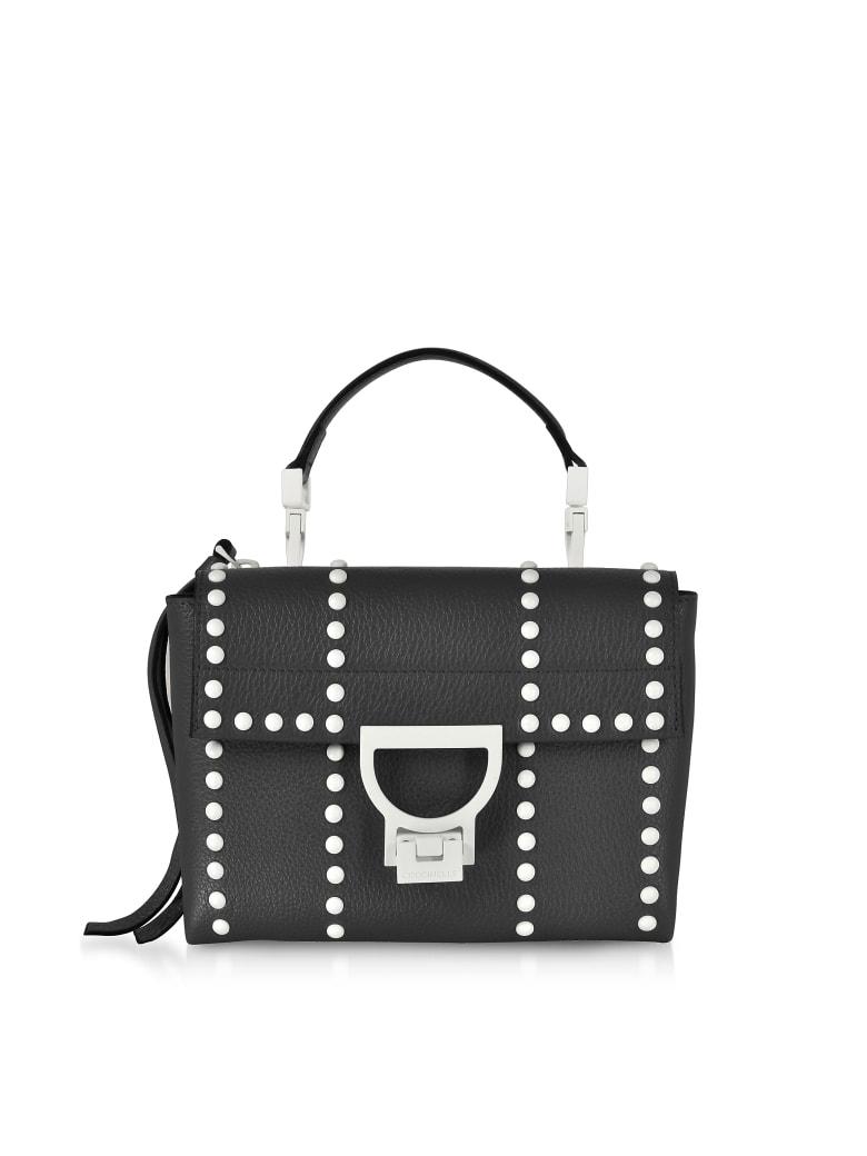 Coccinelle Arlettis Mini Special Studs Leather Shoulder Bag - Black