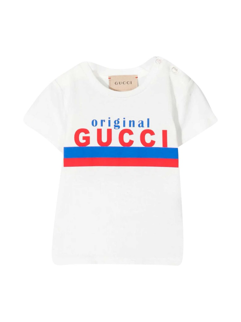 Gucci White Baby T-shirt With Print - Bianco