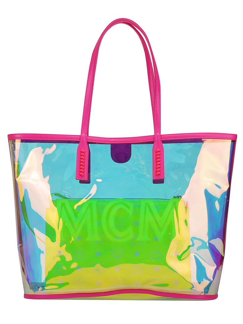 MCM Luccent Shopping Bag - Neon pink