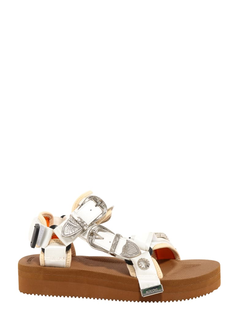 SUICOKE Buckle-embellished Flatform Sandals - Brown
