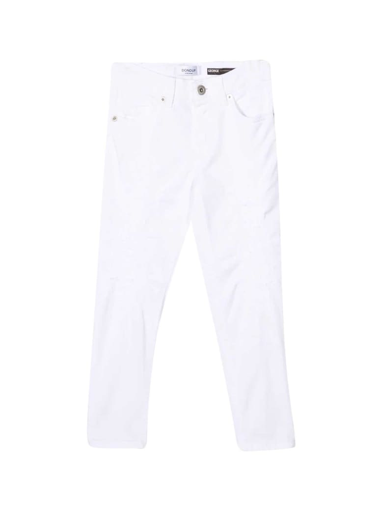 Dondup White Trousers - Unica