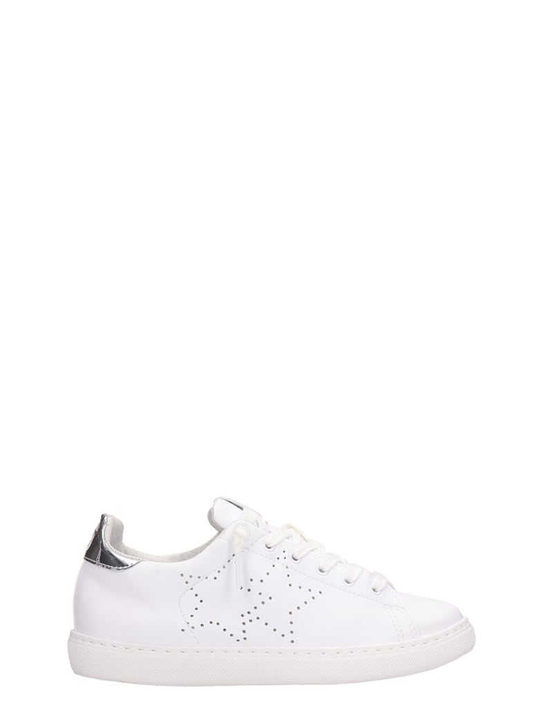 2Star White Leather Low Sneakers - white